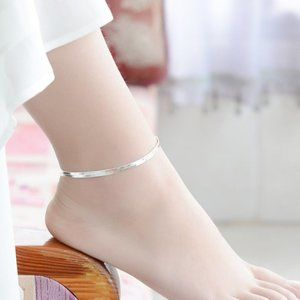 NEW 925 Sterling Silver Snake Chain Anklet